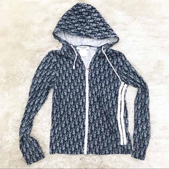 d01bfdc5cc63 Dior Tops   Christian Trotter Print Hooded Sweatshirt   Poshmark